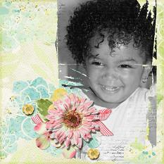 Digital scrapbooking layout by Angie Briggs using ScrapSimple Paper Templates: Modern Messy