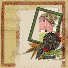 Autumn layout using Brush Set: Manuscript