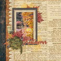 Autumn Layout by Emily Abramson