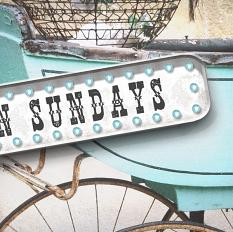 """Open Sundays"" Junkyard Marquee Sample"