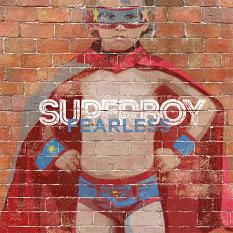 """Superboy"" digital scrapbooking layout by Brandy Murry"