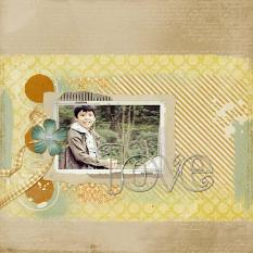 Digital scrapbooking layout by Armi Custodio using ScrapSimple Embellishment Templates: Taped and Stapled Frames