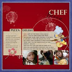 """Chef Becca"" layout uses Gourmet Kitchen Paper Mini"