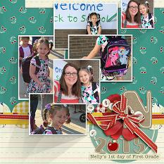 Nelly's First Day Layout by Amanda Fraijo-Tobin