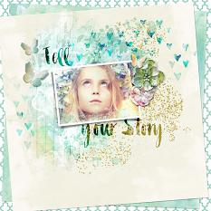 Layout using Stories We Tell Embellishment Templates
