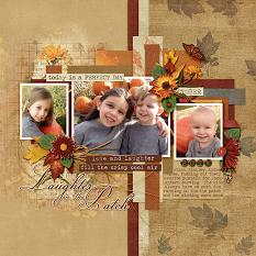 Laughter in the Patch layout using the Fabulous Fall Collection