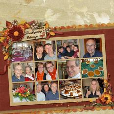 Thanksgiving Blessing layout using the Fabulous Fall Collection