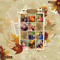 Greenie's Farm layout using Fabulous Fall Collection