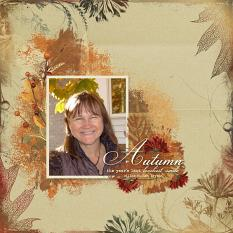 Autumn's Smile layout using Fabulous Fall Collection