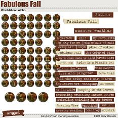 Word Art and Alpha included in the Fabulous Fall Collection
