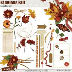 Embellishments included in the Fabulous Fall Collection