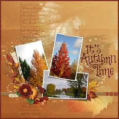 It's Autumn Time layout using the Fabulous Fall Collection