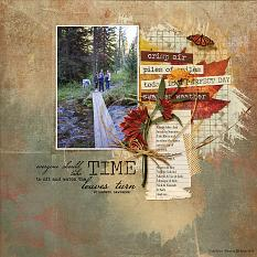 Family Hike layout using the Fabulous Fall Collection