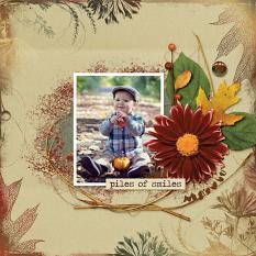 Piles of Smiles layout using the Fabulous Fall Collection