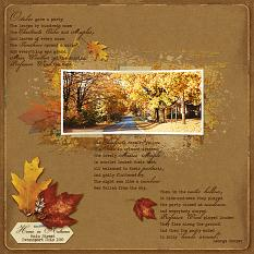 Home In Autumn layout using Fabulous Fall Collection