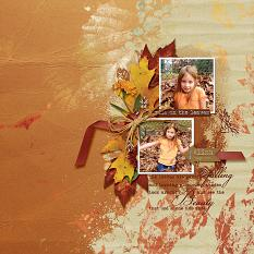 Pile On The Leaves layout using the Fabulous Fall Collection