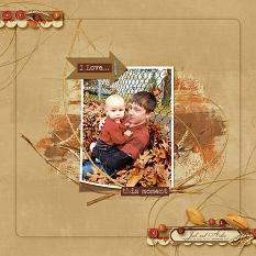 I Love This Moment layout using Fabulous Fall Collection