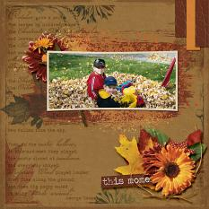 This Moment layout using Fabulous Fall Collection