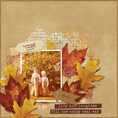 Love and Laughter layout using the Fabulous Fall Collection