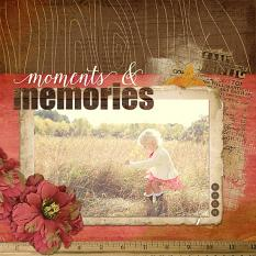 Moments & Memories Layout by Keri Schueller Uses One With Nature Collection