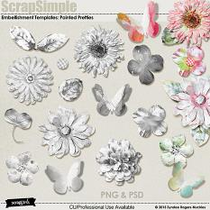 Painted Pretties flower and butterfly templates