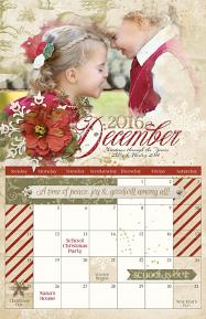 ScrapSimple Calendar Templates: 11x17 Blenders 2016 - Christmas