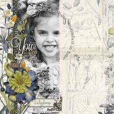 """Snapshot in Time"" digital scrapbooking layout by Brandy Murry"