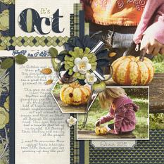 """It's October"" digital scrapbooking layout by Brandy Murry"