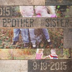 """Brother & Sister"" digital scrapbooking layout by Brandy Murry"