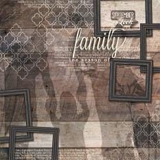"""""""Family Shadows"""" digital scrapbooking layout by Brandy Murry"""