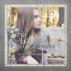 """""""You in Oct"""" digital scrapbooking layout by Brandy Murry"""