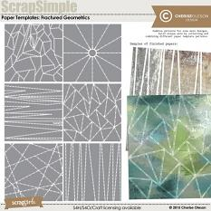 ScrapSimple Paper Templates: Fractured Geometrics by Cherise Oleson