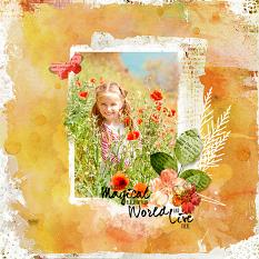Layout using Art Mix painted embellishment templates