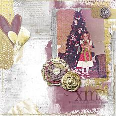 Xmas layout by Jody West using Art Mix paper templates