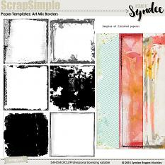 Art Mix Borders paper templates