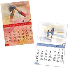 Calendar Samples using 4x6 Calendar Blends embellishment templates