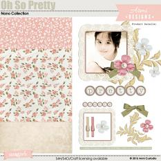 Digital scrapbooking kit Oh So Pretty by Armi Custodio