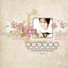 Digital scrapbooking layout by Armi Custodio using Oh So Pretty Nano Collection