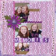 """Memories"" Digital Scrapbooking Layout by Cherise Oleson, using ScrapSimple Paper Templates: 70s"
