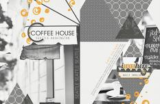 """Coffee House"" digital scrapbooking layout by Brandy Murry"