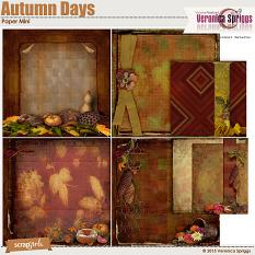 Autumn Days Paper Mini Stacked Details