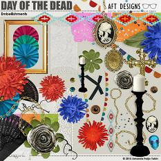 Day of the Dead #digitalscrapbooking embellishments included in collection by Amanda Fraijo-Tobin | ScrapGirls.com