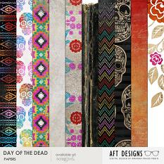 Day of the Dead #digitalscrapbookg paper backgrounds by Amanda Fraijo-Tobin | ScrapGirls.com #digitalscrapbooking #halloween