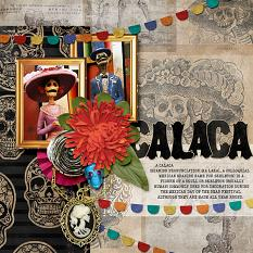 Calaca #digitalscrapbooking layout idea by Amanda Fraijo-Tobin using Dia de Los Muertos Collection | ScrapGirls.com