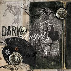 Dark Angel teen #halloween Digital Scrapbooking layout by Amanda Fraijo-Tobin | ScrapGirls.com