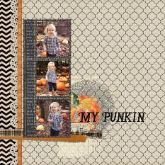 My Punkin Layout by Emily Abramson