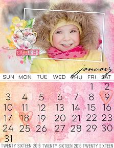 Calendar page using Blended Calendar paper templates