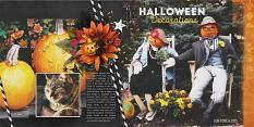 JIFFY Easy Page Album: Halloween photobook/scrapbook layout by Brandy Murry