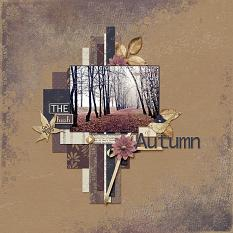 The Hush of Autumn layout using Autumn's Hush Collection