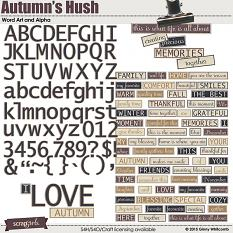 Word Art and Alpha included in the Autumn's Hush Collection